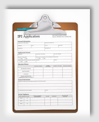 Israeli Protection Services Employment Application